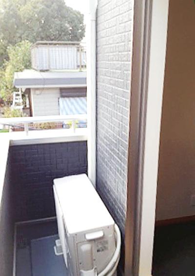 室外機 ベランダ置き 室外化粧カバーあり:富士通 AS-S22B