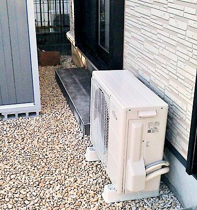 室外機 大地置き 入替え後の新品エアコン:富士通 AS-Z71B2