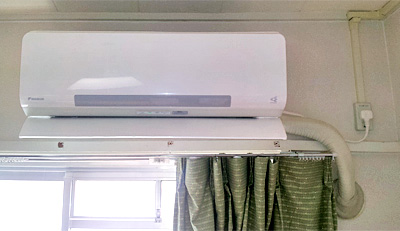 室内機 入替え後の新しいエアコン:ダイキン AN28NRS