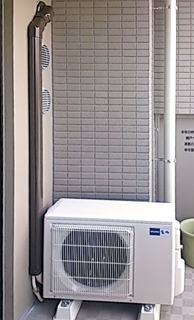 室外機 室外化粧カバーあり:三菱 MSZ-ZW402S