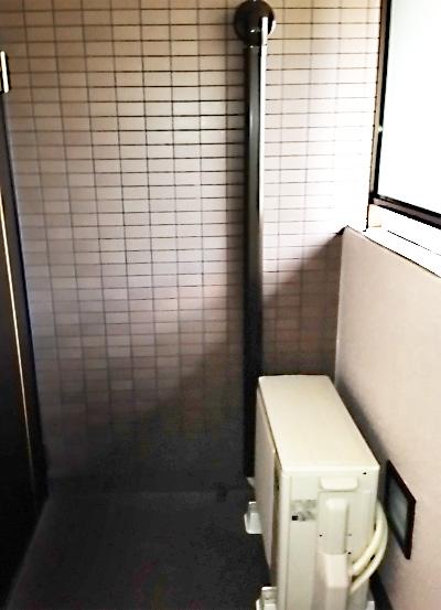 室外機 ベランダ置き 室外化粧カバーあり:富士通 AS-E289H