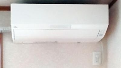 室内機 配管穴の穴あけ工事あり:富士通 AS-W22B×2台 1台目