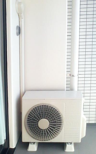 室外機 ベランダ置き 室外化粧カバーあり:日立 RAS-S40C2