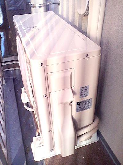 室外機 ベランダ置き 室外化粧カバーあり:シャープ AC-223FD1