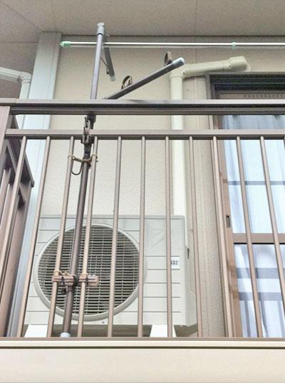 室外機 ベランダ置き 室外化粧カバーあり:ダイキン S22PTES