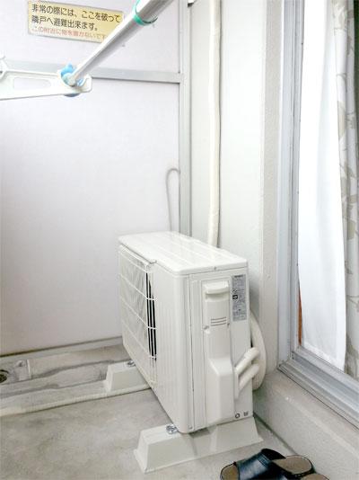 室外機 ベランダ置き:三菱電機 MSZ-W224