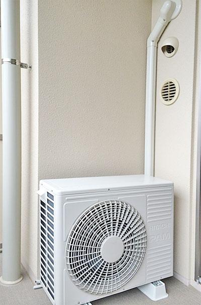 室外機 ベランダ置き 室外化粧カバーあり:日立 RAS-S40D2