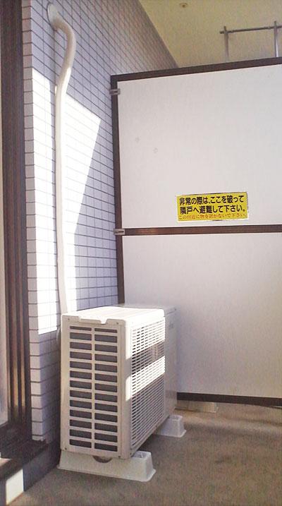 室外機 ベランダ置き:富士通ゼネラル Jシリーズ AS-J36C