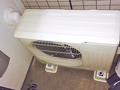 室外機 ベランダ置き 室外化粧カバーあり:三菱電機 霧ヶ峰 MSZ-W224