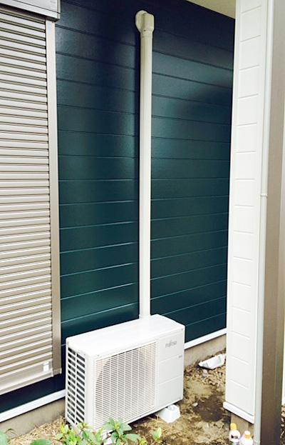 室外機 大地置き 室外化粧カバーあり:富士通ゼネラル AS-J28D