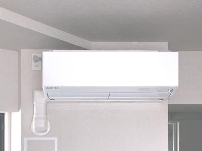 室内機 室内化粧カバーあり:三菱電機 霧ヶ峰 MSZ-ZW565S