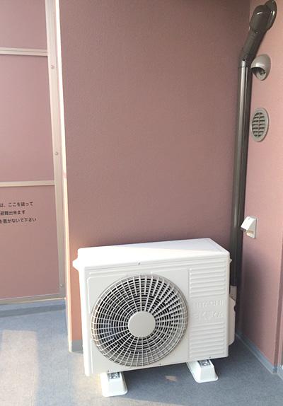 室外機:日立 ステンレス・クリーン 白くまくん RAS-Z40E2