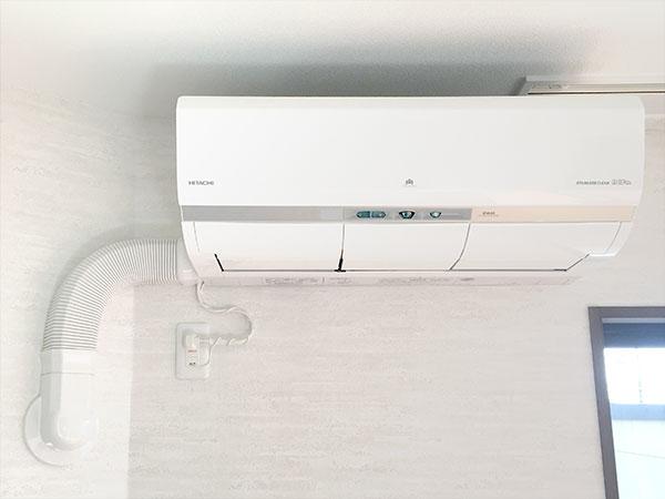 室内機 室内化粧カバーあり ジャバラ部材使用:日立 ステンレス・クリーン 白くまくん RAS-X56G2