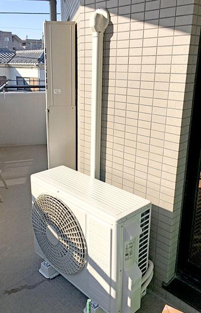 室外機 ベランダ置き 室外化粧カバーあり:日立 ステンレス・クリーン 白くまくん RAS-X56G2