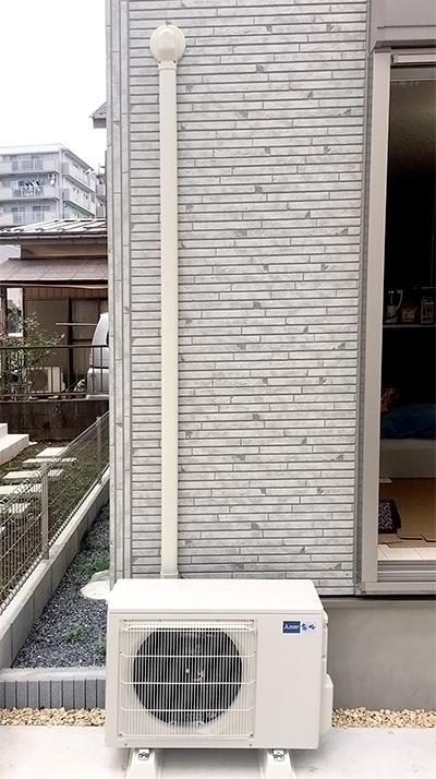 室外機 大地置き 室外化粧カバーあり:三菱電機 霧ヶ峰 MSZ-GE5617S