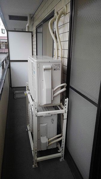 室外機 二段置き:富士通ゼネラル ノクリア AS-C22J