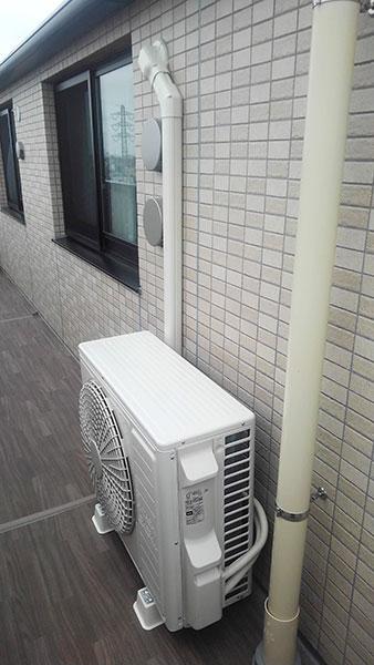 室外機 室外化粧カバーあり ベランダ置き:日立 ステンレス・クリーン 白くまくん RAS-X56G2