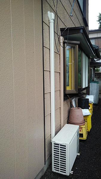 室外機 室外化粧カバーあり 大地置き:富士通 ノクリア AS-C40H