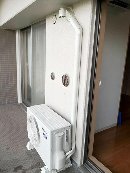 室外機 ベランダ置き 室外化粧カバーあり:パナソニック エオリア CS-GX220D