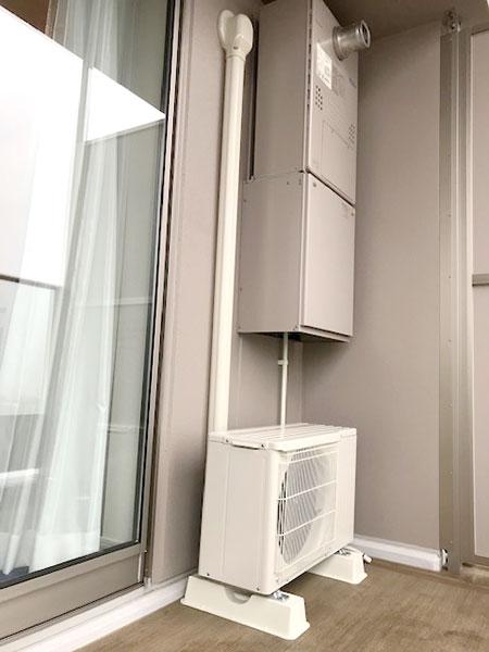 室外機 ベランダ置き 室外化粧カバーあり:三菱 霧ヶ峰 MSZ-GV2219