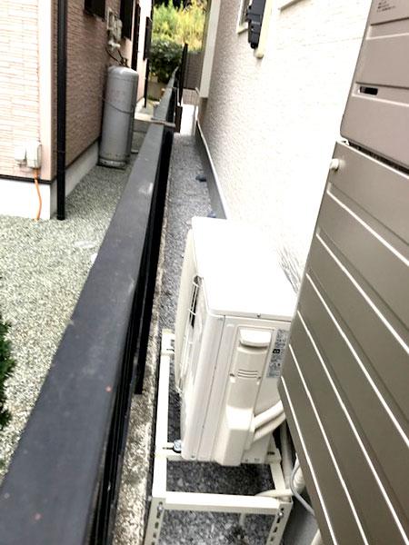 室外機 大地置き 室外化粧カバーあり:三菱 霧ヶ峰 MSZ-BXV2820W