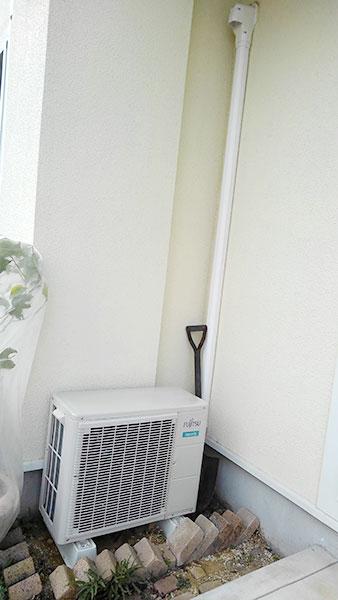 室外機 ベランダ置き 室外化粧カバーあり:富士通 ノクリア AS-XS28J-W