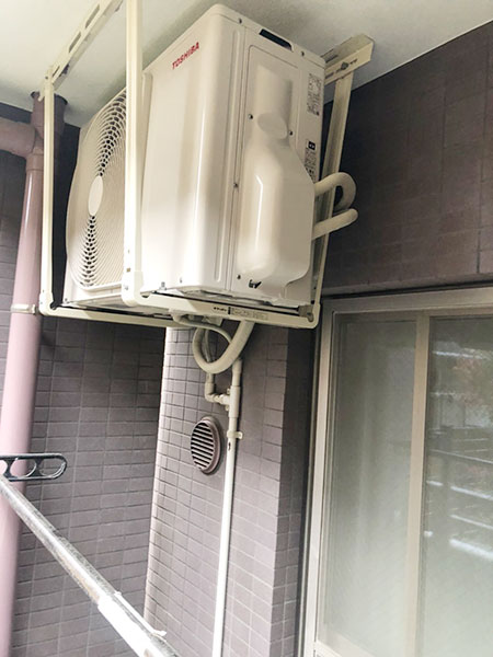 室外機 天吊り:東芝 RAS-H221M