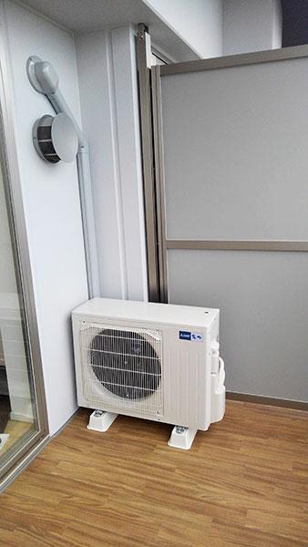 室外機 ベランダ置き 室外化粧カバーあり:三菱 霧ヶ峰 MSZ-ZW4020S