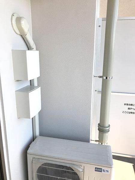 室外機 ベランダ置き 室外化粧カバーあり:三菱 霧ヶ峰 MSZ-ZW635S