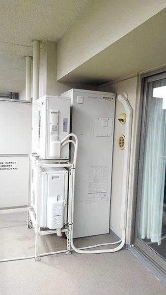 室外機 二段置き 室外化粧カバーあり:三菱 霧ヶ峰 Style MSZ-FL4020S