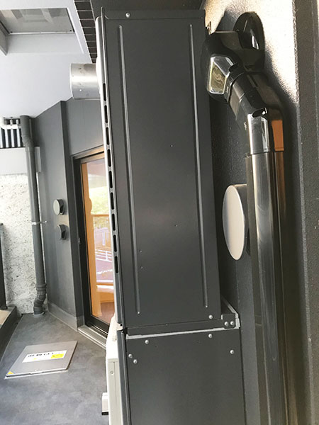 室外機 ベランダ置き 室外化粧カバーあり:三菱 霧ヶ峰 MSZ-S2220