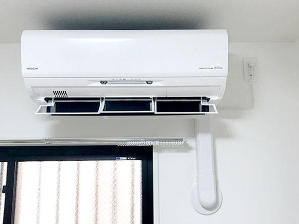 室内機 室内化粧カバーあり:日立 ステンレス・クリーン 白くまくん RAS-X22J